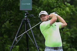 May 25, 2019 - Fort Worth, TX, U.S. - FORT WORTH, TX - MAY 25: Tyrrell Hatton hits from the 6th tee during the third round of the Charles Schwab Challenge on May 25, 2019 at Colonial Country Club in Fort Worth, TX. (Photo by George Walker/Icon Sportswire) (Credit Image: © George Walker/Icon SMI via ZUMA Press)