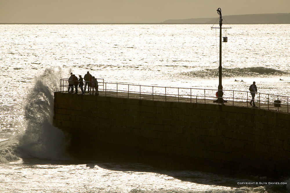 So beautiful & romantic in the warm afternoon sunshine, but a frightening place to be in the depths of winter when huge waves pound over this granite quay. People have lost their lives from this quay.