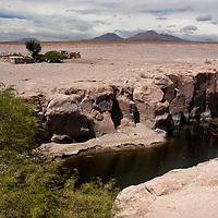 "Leaving the Salar de Atacama, we pass through the ""oasis"" of Toconao, a town located 38 kilometers south of San Pedro de Atacama."