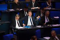 DEU, Deutschland, Germany, Berlin, 31.01.2019: Blick in die Reihen der AfD-Bundestagsfraktion (Alternative für Deutschland, AfD) bei einer Plenarsitzung im Deutschen Bundestag. Bildmitte: Karsten Hilse.