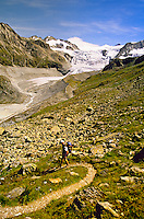 Hiking down Col du Tsate (Glacier de Moiry in back), Haute Route, Switzerland6
