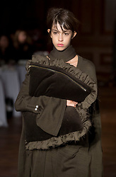 Models on the catwalk during the Mother of Pearl London Fashion Week SS18 show held at The Tapestry Room in The Ned, London.