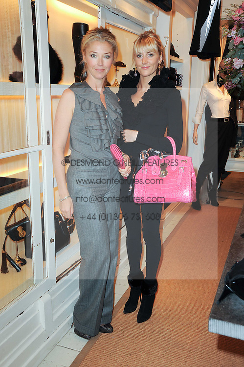Left to right, TAMARA BECKWITH and LADY EMILY COMPTON at a ladies lunch at Ralph Laren, Westbourne Grove, London W11 hosted by Too Many Women in Support of Breakthrough Breast Cancer on 4th October 2010.