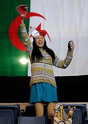 07-11-2010 VOLLEYBAL: WORLD CHAMPIONSHIP: PERU - KOREA: TOKYO<br /> Korea beat Peru with 3-1 / Support for Peru<br /> ©2010-WWW.FOTOHOOGENDOORN.NL