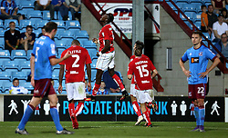 Tammy Abraham of Bristol City celebrates scoring a goal against Scunthorpe United - Mandatory by-line: Robbie Stephenson/JMP - 23/08/2016 - FOOTBALL - Glanford Park - Scunthorpe, England - Scunthorpe United v Bristol City - EFL Cup second round