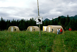 Alaska: Lake Clark Natl Park.  Bear Camp for grizzly bear viewing.  Photo akbear103. No model release. .Photo copyright Lee Foster, 510/549-2202, lee@fostertravel.com, www.fostertravel.com
