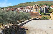 Nucleated settlement village of Cuacos de Yuste, La Vera, Extremadura, Spain