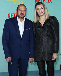 Mihai Malaimare and Elena Cozlovschi arrive at the Los Angeles Premiere Of Netflix's 'The Harder They Fall' held at the Shrine Auditorium and Expo Hall on October 13, 2021 in Los Angeles, California, United States. Photo by Xavier Collin/Image Press Agency/ABACAPRESS.COM