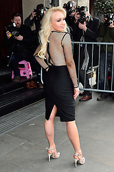 © Licensed to London News Pictures. 08/03/2016. JORGIE PORTER arrives for the TRIC Awards. The Television and Radio Industries Club's annual awards ceremony, honour's the best performers and programmes  of the last year .London, UK. Photo credit: Ray Tang/LNP
