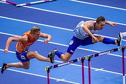 04-03-2018 GBR: World Indoor Championships Athletics day 4, Birmingham<br /> Koen Smet NED, 60 Metres Hurdles wordt vierde in zijn serie van de halve finale WK Indoor.