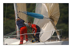 Yachting- The first days inshore racing  of the Bell Lawrie Scottish series 2002 at Tarbert Loch Fyne. Near perfect conditions saw over two hundred yachts compete. <br /><br />Looks Like Trouble JOD 35 IRL3535 clas 2<br /><br />Pics Marc Turner / PFM