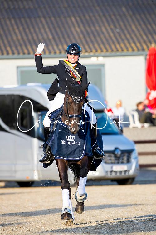 Amber van den Steen - Fame<br /> Flanders Dressage Event - Meerdonk 2019<br /> © Hippo Foto - Leanjo De Koster<br /> Amber van den Steen - Fame