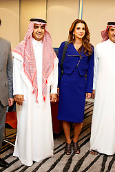 File Photo - Saudi businessman Waleed Al Ibrahim seen in a file photo dated October 15, 2014, as he receives Queen Rania of Jordan at MBC studios in Dubai, United Arab Emirates. He is one of the people arrested in Riyadh by a new anti-corruption commission. A new Saudi anti-corruption body has detained 11 princes, four sitting ministers and dozens of former ministers, media reports say. The detentions came hours after the new committee, headed by Crown Prince Mohammed bin Salman, was formed by royal decree. Photo by Balkis Press/ABACAPRESS.COM  | 613894_003 Dubai Emirats Arabes Unis United Arab Emirates
