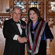 London,England,UK. 31th March 2017: Lord David Brewer presents Jin Shu Li winner of the awards of the Master of the Art of TV Producing at the Athene Festival 2017 at Guildhall,London,UK. by See Li