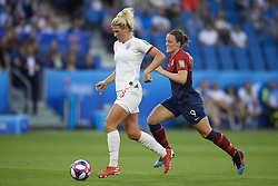 June 27, 2019 - Le Havre, France - Millie Bright (Chelsea FCW) of England and Isabell Herlovsen (Kolbotn) of Norway competes for the ball during the 2019 FIFA Women's World Cup France Quarter Final match between Norway and England at  on June 27, 2019 in Le Havre, France. (Credit Image: © Jose Breton/NurPhoto via ZUMA Press)