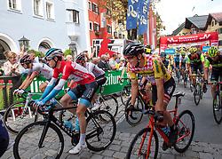 12.07.2019, Kitzbühel, AUT, Ö-Tour, Österreich Radrundfahrt, 6. Etappe, von Kitzbühel nach Kitzbüheler Horn (116,7 km), im Bild Start in Kitzbühel, Tirol mit Ben Hermans (BEL, Israel Cycling Academy) im roten Trikot des Gesamtführenden // Start in Kitzbühel Tyrol with the overall leader Ben Hermans of Belgium in the red leaders jersey during 6th stage from Kitzbühel to Kitzbüheler Horn (116,7 km) of the 2019 Tour of Austria. Kitzbühel, Austria on 2019/07/12. EXPA Pictures © 2019, PhotoCredit: EXPA/ Reinhard Eisenbauer