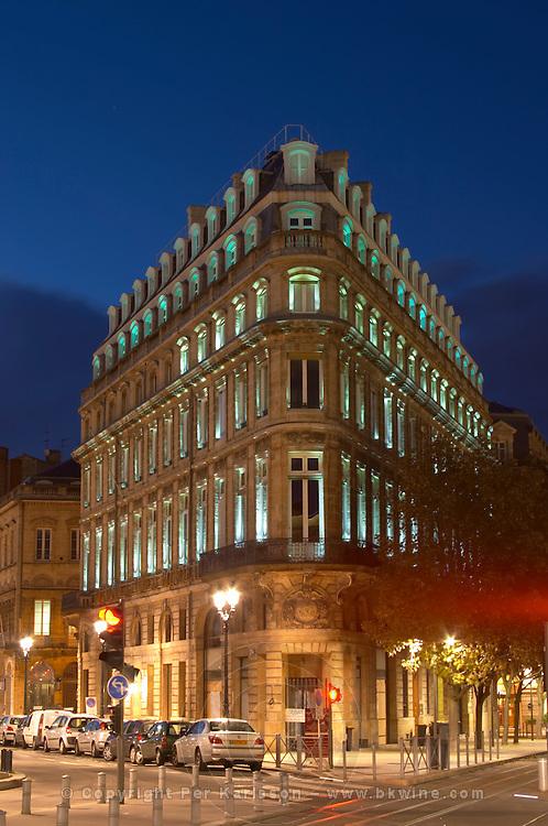 Maison du Vin, House of Wine, CIVB office on Allees de Tourny and Place de la Comedie. Bordeaux city, Aquitaine, Gironde, France