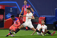 SEVILLE, SPAIN - DECEMBER 02: Oscar Rodriguez of FC Sevilla and Callum Hudson-Odoi of Chelsea FC during the UEFA Champions League Group E stage match between FC Sevilla and Chelsea FC at Estadio Ramon Sanchez-Pizjuan on December 2, 2020 in Seville, Spain. (Photo by Juan Jose Ubeda/MB Media)