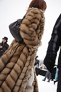 Fashion at White Turf 2011 horse  racing event in St Moritz, Switzerland.