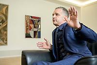 24 JUL 2020, BERLIN/GERMANY:<br /> Heiko Maas, SPD, Bundesaussenminister, waehrend einem Interview, in seinem Buero, Auswaertiges Amt<br /> IMAGE: 20200724-01-039<br /> KEYWORDS: Buero