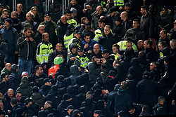 Support and security during the semi final KNVB Cup between FC Utrecht and Ajax Amsterdam at Stadion Nieuw Galgenwaard on March 04, 2020 in Amsterdam, Netherlands