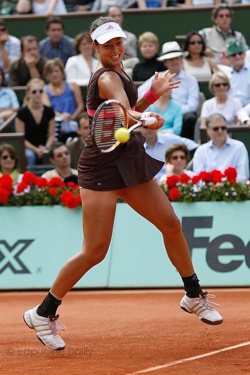 Roland Garros. Paris, France. June 9th 2007..Women's Final..Ana IVANOVIC against Justine HENIN.