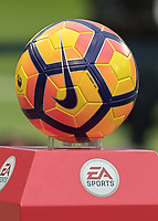 Football - 2016 / 2017 Premier League - West Ham United vs. Stoke City<br /> <br /> <br /> The Nike sponsored football sits on the EA sports plinth at The London Stadium.<br /> <br /> COLORSPORT/DANIEL BEARHAM