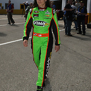 NASCAR Sprint Cup driver Danica Patrick walks back to her hauler after  her NASCAR Daytona 500 practice session at Daytona International Speedway on Wednesday, February 20, 2013 in Daytona Beach, Florida.  (AP Photo/Alex Menendez)