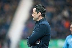 St Mirren's manager Jack Ross. Falkirk 3 v 1 St Mirren, Scottish Championship game played 3/12/2016 at The Falkirk Stadium .