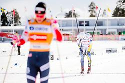 March 16, 2018 - Falun, SVERIGE - 180316 Teodor Peterson, Sverige, deppar efter finalen i sprint under Svenska Skidspelen den 16 mars 2018 i Falun  (Credit Image: © Simon HastegRd/Bildbyran via ZUMA Press)