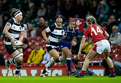 Charmaine McMenamin of Barbarians<br /> <br /> Photographer Simon King/Replay Images<br /> <br /> Friendly - Wales v Barbarians - Saturday 30th November 2019 - Principality Stadium - Cardiff<br /> <br /> World Copyright © Replay Images . All rights reserved. info@replayimages.co.uk - http://replayimages.co.uk