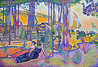 France, Paris (75), zone classée Patrimoine Mondial de l'UNESCO, Musée d'Orsay, L'Air du soir, Henri-Edmond Cross // France, Paris, Orsay museum, L'Air du soir, Henri-Edmond Cross
