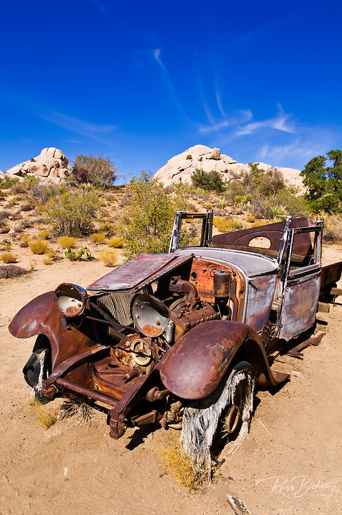 Old truck at the Wall Street Stamp Mill, Joshua Tree National Park, California USA