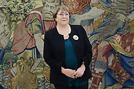 Michelle Bachelet attended a meeting at Zarzuela Palace on December 11, 2018 in Madrid, Spain