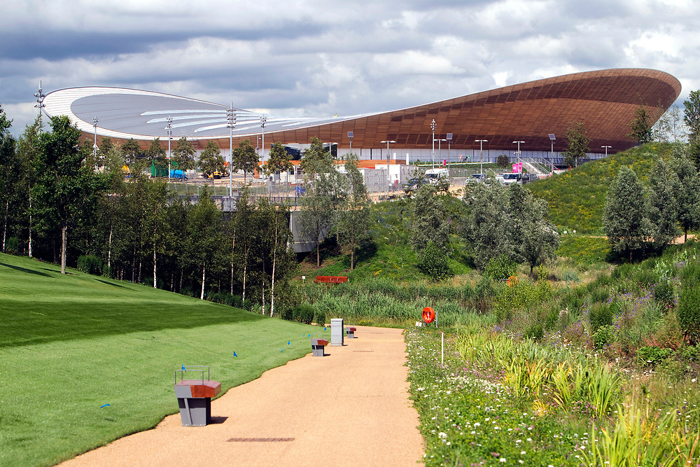 Pictured are the Veldrome and Basketball venues from the Norther Parklands area.<br /> Picture by David Poultney