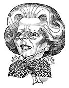 (Caricature of Margaret Thatcher)