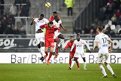 February 23, 2019 - Amiens, France - 08 PIERRE LEES MELOU (NICE) - 05 EDDY GNAHORE (AMI) - 09 SEHROU GUIRASSY  (Credit Image: © Panoramic via ZUMA Press)