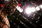 LAS VEGAS, NV - JULY 8:  Matheus Nicolau stands in the Octagon before fighting John Moraga during The Ultimate Fighter Finale at MGM Grand Garden Arena on July 8, 2016 in Las Vegas, Nevada. (Photo by Cooper Neill/Zuffa LLC/Zuffa LLC via Getty Images) *** Local Caption *** Matheus Nicolau
