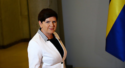 June 20, 2017 - Warsaw, Poland - Prime Minister Beata Szydlo received Swedish Prime Minister Stefan Löfven for official state visit at the Chancellery in Warsaw. (Credit Image: © Jakob Ratz/Pacific Press via ZUMA Wire)