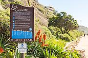 San Clemente Beach Trail Sign by North Beach