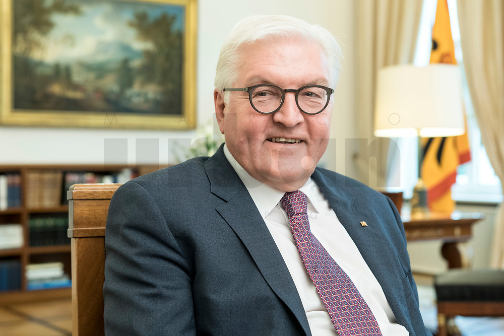 02 JUL 2018, BERLIN/GERMANY:<br /> Frank-Walter Steinmeier, Bundespraesident, waehrend einem Interview, Amtszimmer des Bundespraesidenten, Schloss Bellevue<br /> IMAGE: 20180702-01-027<br /> KEYWORDS: Bundespräsident