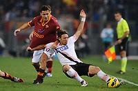 Francesco Totti (Roma) Edgar Barreto (Palermo)<br /> 04/11/2012 Roma, Stadio Olimpico<br /> Campionato di calcio Serie A 2012/2013<br /> Roma vs Palermo<br /> Foto Antonietta Baldassarre Insidefoto
