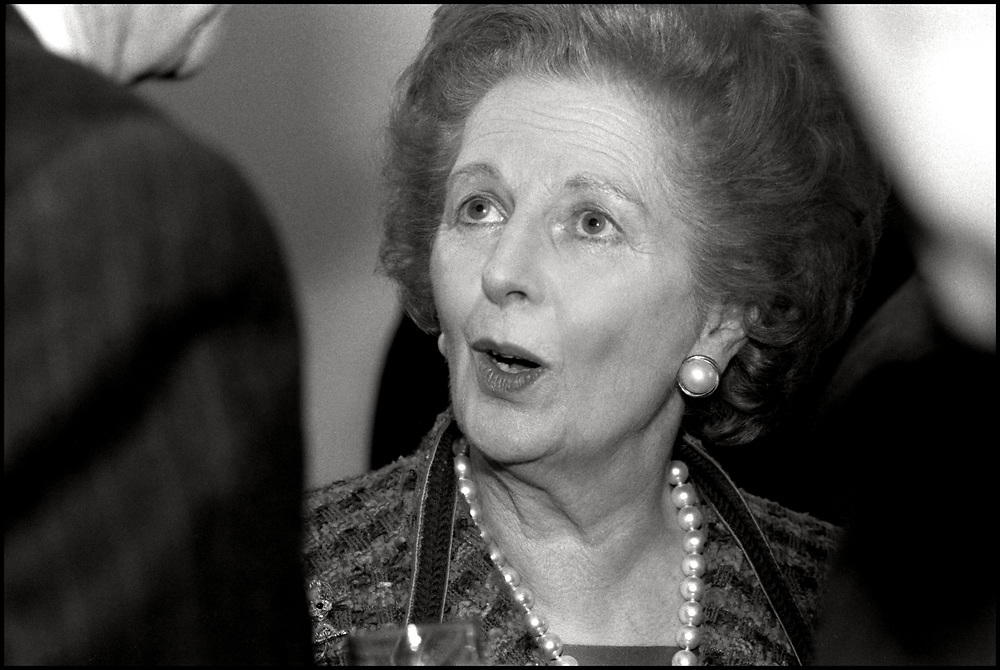 Margaret Thatcher attended a meeting in New York City on November 1, 1993.