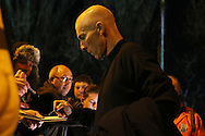 Swansea city manager Bob Bradley signs his autograph for fans as he arrives off the Swansea team bus. Premier league match, West Bromwich Albion v Swansea city at the Hawthorns stadium in West Bromwich, Midlands on Wednesday 14th December 2016. pic by Andrew Orchard, Andrew Orchard sports photography.