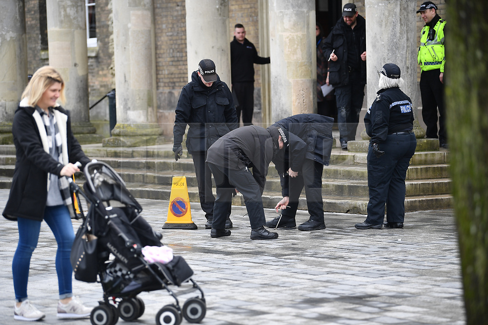 © Licensed to London News Pictures. 15/03/2018. Salisbury, UK. Police search teams in Salisbury, Wiltshire where Former Russian spy Sergei Skripal and his daughter Yulia were found after being poisoned with nerve agent. The couple where found unconscious on bench in Salisbury shopping centre. A policeman who went to their aid is currently recovering in hospital. Photo credit: Ben Cawthra/LNP
