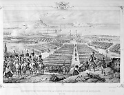 Distribution of the Cross of the Legion of Honour at Boulogne, 16 August 1804. Engraving.
