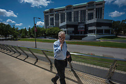 MONTGOMERY, AL -- 5/25/17 -- Even at age 80, Morris Dees still comes into the office daily. The attorney has made a career taking down racist organizations and hate groups over the years, and has created an infrastructure to continue that work well into the future. Dees enters SPLC headquarters, which is across the street from the Civil Rights Memorial Center.<br /> Civil Rights attorney Morris Dees co-founded the Southern Poverty Law Center in 1971. The group has taken on the Ku Klux Klan and fought for against hate for decades, but is now facing criticism that it has labeled some groups without just cause..…by André Chung #_AC17500