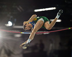Thiago Braz da Silva of Brazil competes in the Men's Pole Vault Final during day one of the IAAF World Indoor Championships at Oregon Convention Center in Portland, Oregon, the United States, on March 17, 2016. EXPA Pictures © 2016, PhotoCredit: EXPA/ Photoshot/ Yin Bogu<br /> <br /> *****ATTENTION - for AUT, SLO, CRO, SRB, BIH, MAZ, SUI only*****