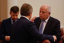 April 3, 2017 - Kiev, Ukraine - First Vice Prime Minister - Minister of Economic Development and Trade of Ukraine..Stepan KUBIV attends the session of the Government. Ukrainian Government - Cabinet of Ministers - holds a session on the Mid-term strategy for 2017-2020, in Kyiv, Ukraine, April 3, 2017. (Credit Image: © Sergii Kharchenko/NurPhoto via ZUMA Press)