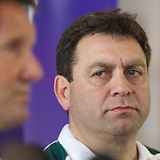 David Nucifora, Australian Coaching Coordinator at the teams press conference at Takapuna Beach, Auckland, durimng the IRB Rugby World Cup tournament, Auckland, New Zealand, 17th October 2011. Photo Tim Clayton...